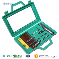 1 Set Auto Car Tire Repair Kit Car bicycle Tubeless Tyre Puncture Plug Repair Tools Kit Tyre Steel Needle Tool Sets
