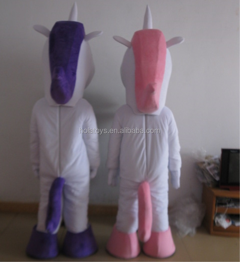Lovely white unicorn mascot costume for adult