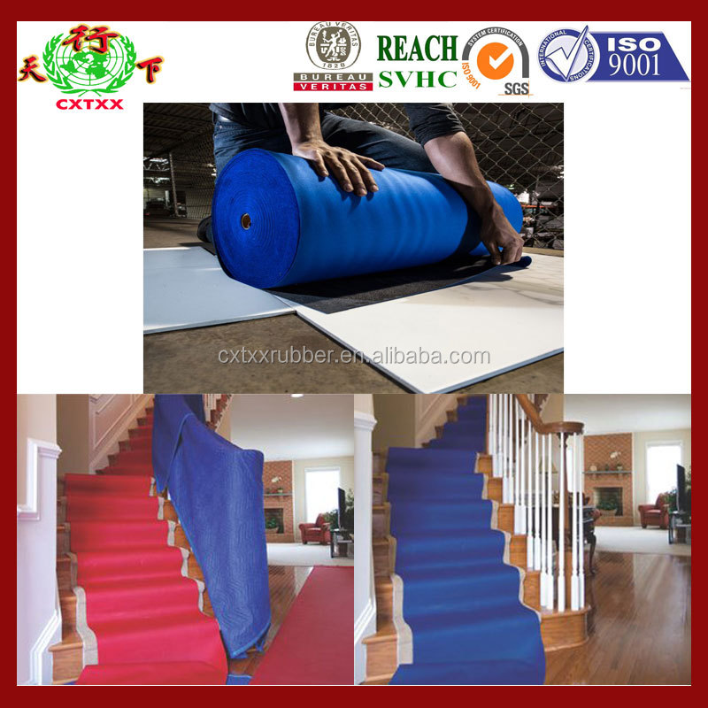Neoprene cushion floor runners
