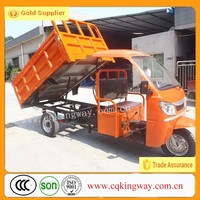 China Supplier Motorized Driving Type Three Wheel Motorcycle Mini Dumper Truck With Cabin