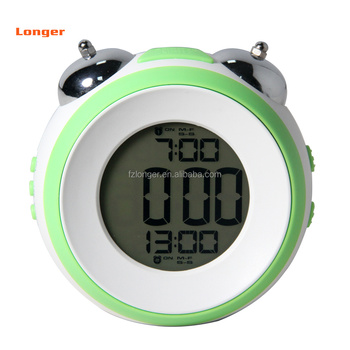Hot sale new arrival ABS personalized desktop LCD clock promotion gift