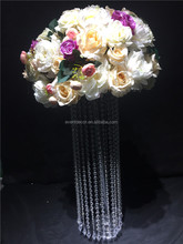 Wedding decorative white and purple artificial flower ball for decoration wedding