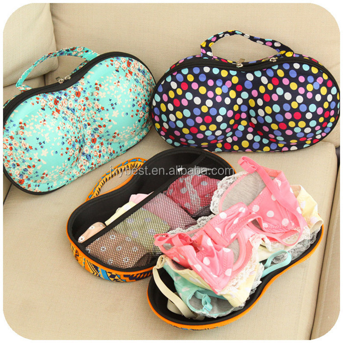 China factory custom portable travel hard eva bra case