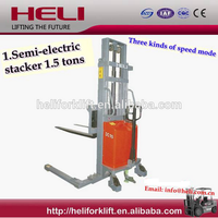1.5Ton Heli Brand semi electric stacker forklift