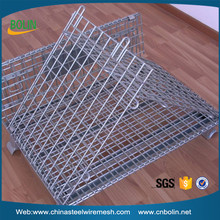 Zinc plate collapsible wire mesh bulk container (customized)