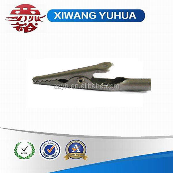 Solid stainless steel crocodile clip