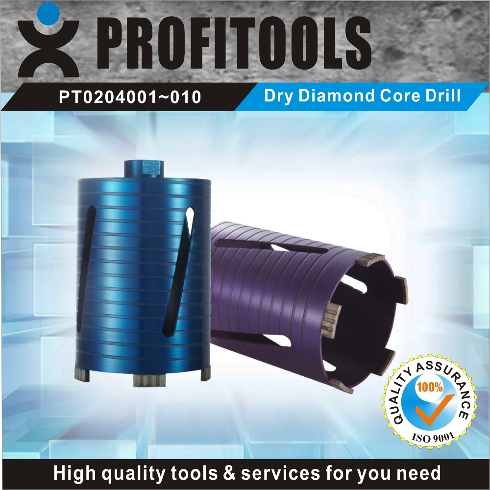 professional quality dry diamond core drill bits for reinforced concrete from factory supply