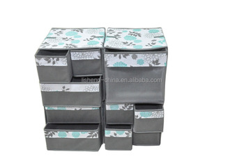 2016 New pattern foldable storage box with 10 drawers