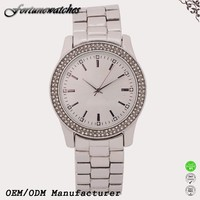 Shenzhen watch factory quartz stainless steel case back watch