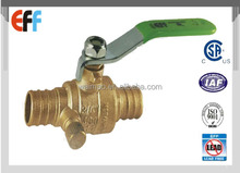 "1/2""-- 1"" Forged brass body full port PEX water Brass Ball Valve With Drain"