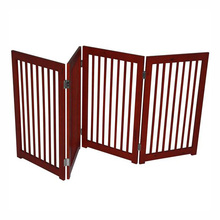 "72"" 4-Panel Folding Wooden Indoor Pet / Dog Fence"
