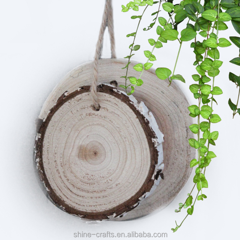Round Natural Wood crafts natural agate slices thin wood slices