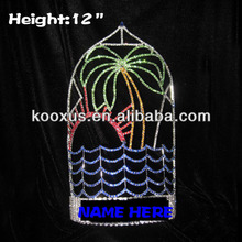 Large Plam Tree Sea Water Sun Crystal summer Pageant Crowns