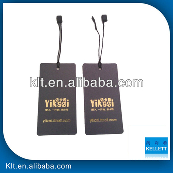 Custom gold stamping garment tags, swing tags