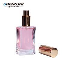 wholesale 30ml 50ml 100ml clear glass refillable perfume glass spray bottle