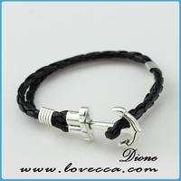 bead weaving design leather wrap anchor bracelet have stock