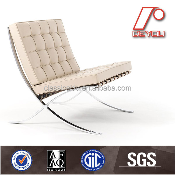 SF-505 Vintage white Italy leather barcelona sofa chair replica
