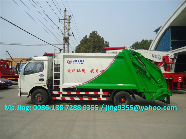 2016 NEW 6000L small garbage truck,Euro III or Euro IV compressed garbage truck on sale