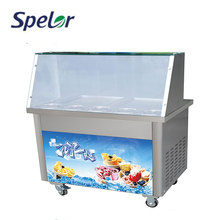 Economical Custom Design Fry Ice Cream Machine With Double Pans