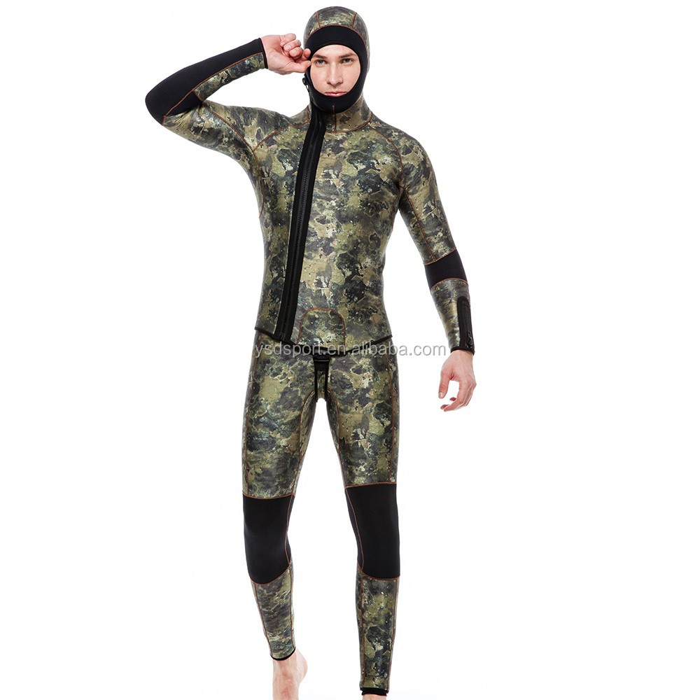men 5mm Neoprene smooth skin open cell wetsuits spearfishing diving wetsuit