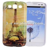 Eiffel Tower Design Hard Back Cover Case for Samsung Galaxy S3 i9300