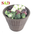 PE rattan supermarket vegetable rack/fancy store display stand for sale