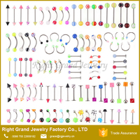 Assorted UV Acrylic Lip Labret Ring Body Piercing Jewelry