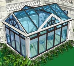 China supplier modern house double glazed aluminium glass sunroom