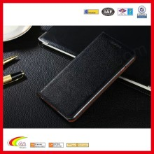 Classic black genuine leather phone case for iphone6 at affordable price