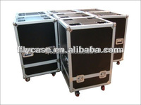 Aluminum dj flight case with wheels and handles/aluminum flight rack case