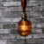 Vintage hemp rope pendant lights Lighting Industrial cord cage lighting decorative lights home