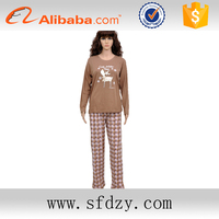 China supplier customized comfortable wholesale ladies knitted loungewear