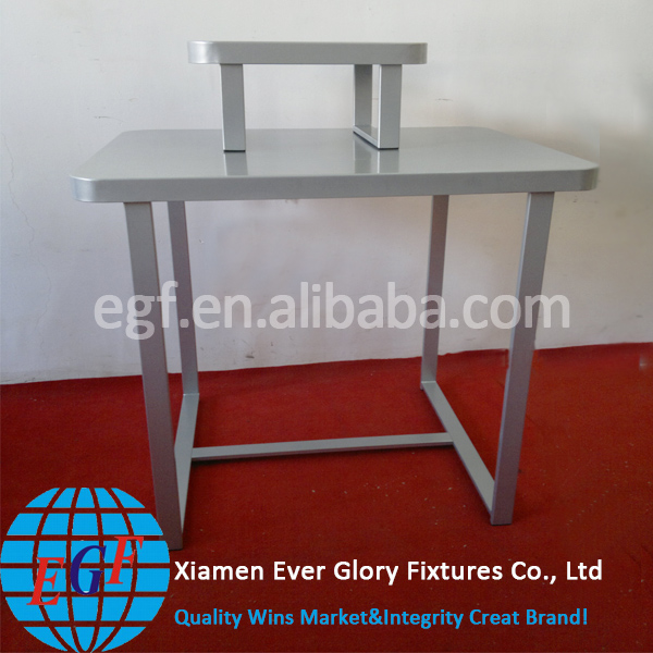 Luxury Silver Retail Store Metal Nesting Tables