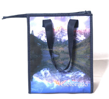 high quality customized pp woven shopping bags with zipper