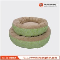 Round pet beds with super soft dog bed plush pet product
