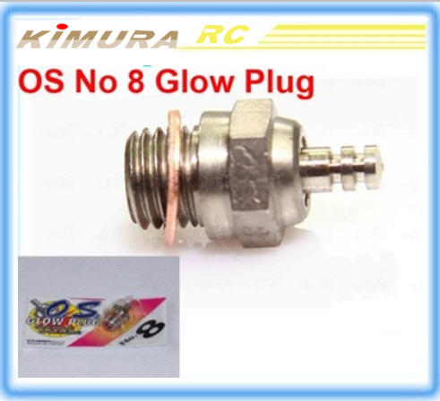 Free shipping 2015 New OS No 8 Medium Glow Plug A8 for OS nitro Engine VS RC glow plug igniter diesel