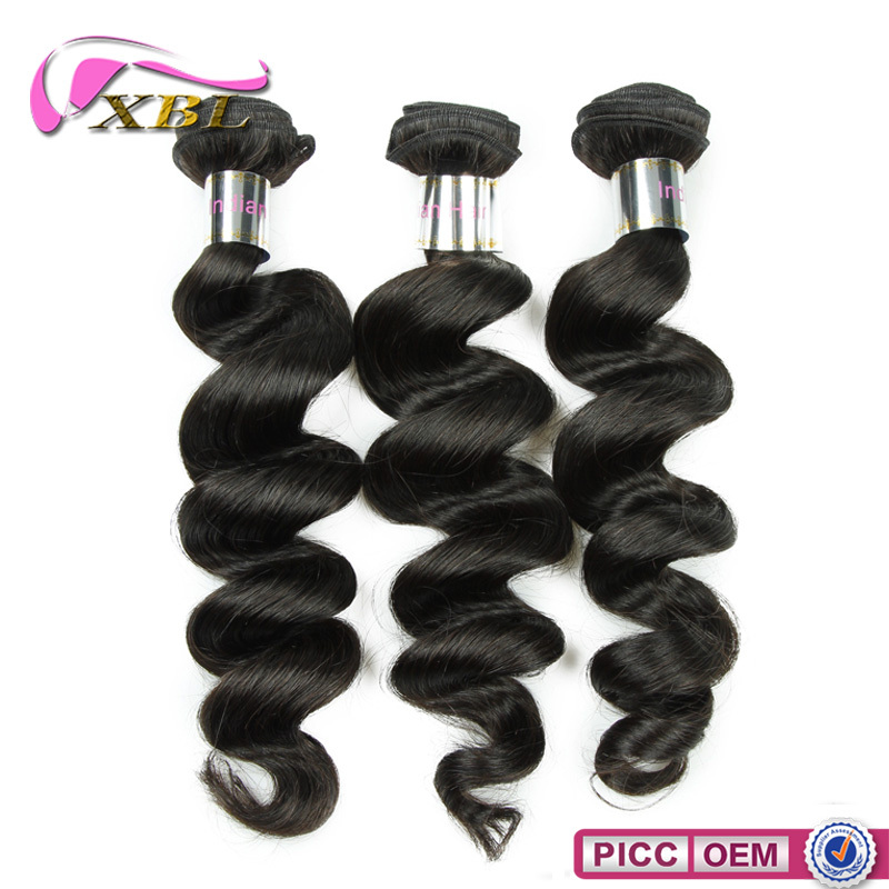 Get free sample organic hair , human remy Indian hair extensions