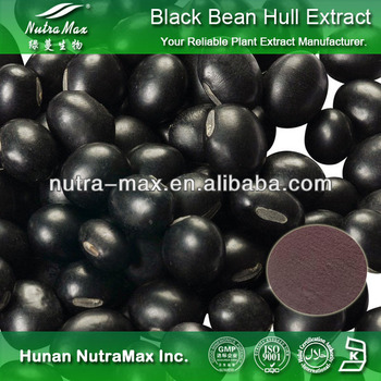 High Quality Black Bean Hull Extract Powder Anthocyanidins 5%~25%,4:1~20:1