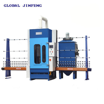JFP-2500 Automatic Vertical Glass Sandblasting Machine 4 guns with PLC for building glass