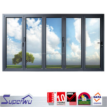 2016 Industrial Hot Sale Aluminium Bi Folding Door decorative aluminum screen doors
