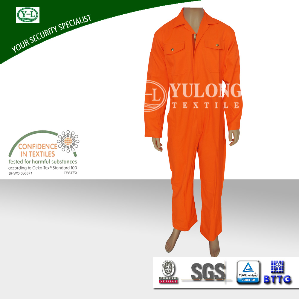 EN20471 safety fire retardant high visibility coveralls with reflective tapes