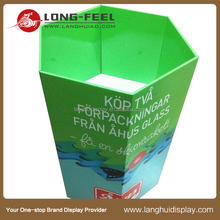 cardboard display advertising supermarket dump bins display