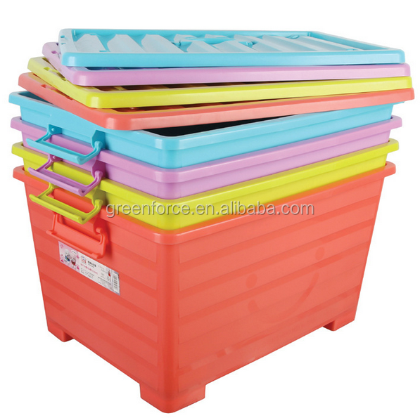Colorful pp plastic clothing sorting Portable transparents plastic storage box/ container