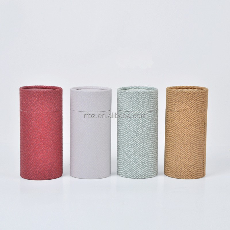 round hard cardboard essential oil bottle 10ML to100ML kraft paper box in stock