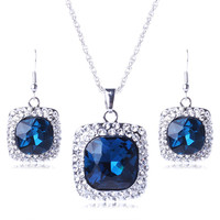 Latest arrival custom design fashion bridal jewelry sets with good offer TL9654