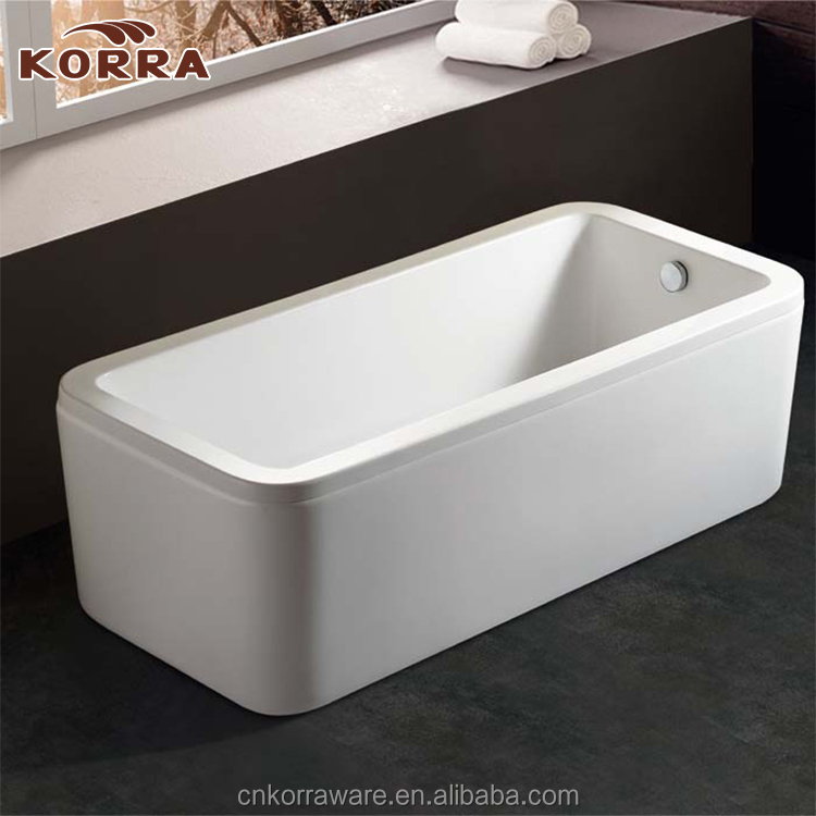 White color modern colored bathtubs,best simple cheap Freestanding Acrylic Bathtub for family houseware