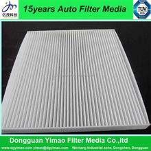 high quality air filter with paper frame for auto air conditioning