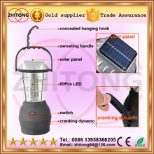 handheld 60 LED Solar Powered camping Lantern Handcrank Emergency Camping Light