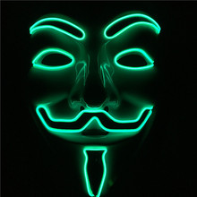 new design light up EL WIRE V mask for Vendetta Anonymous