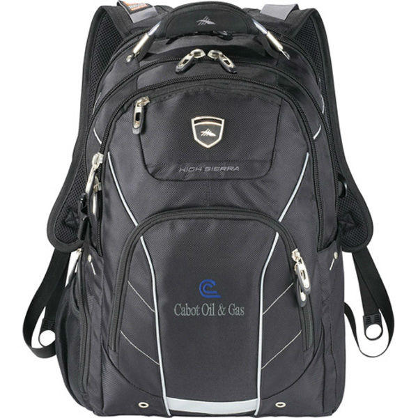 "High Sierra Elite Fly-By 17"" Computer Backpack - adjustable sling system in laptop compartment protects most 11""-17"" laptops"